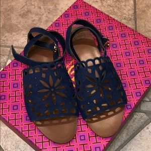 TORY BURCH Navy Size 8 Sandals